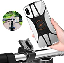 FishOaky Bike Phone Mount, 360° Rotation Silicone Bicycle Phone Holder, Universal Handlebar Mount for Cycling GPS/Music, Fits for iPhone X XR 8/8 Plus, Galaxy S10+, S10, Note 9/S9, 4.0