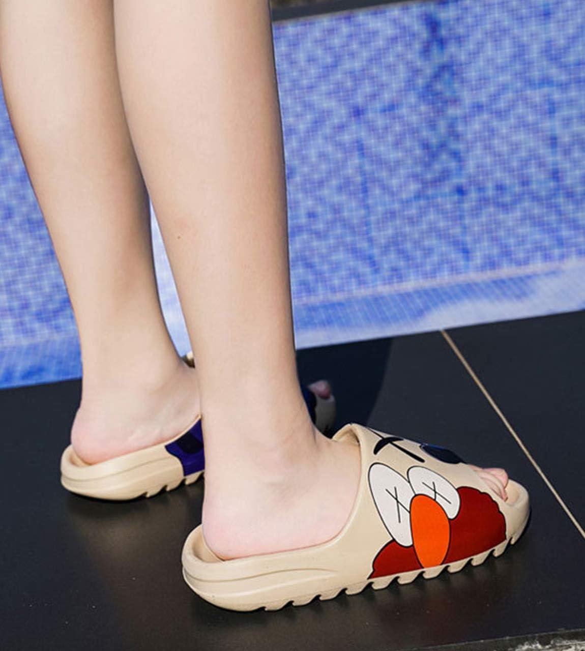 FURPO Unisex Slide Sandal Summer Slippers Non-Slip Soft Platform Pool Slides, Indoor & Outdoor House Slides Slippers, Light Weight EVA Slides Shoes for Mens Womens Teenager Beige-W 9.5 Women/8 Men