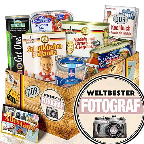 Weltbester Fotograf + Geschenk Hobbyfotograf + DDR Korb