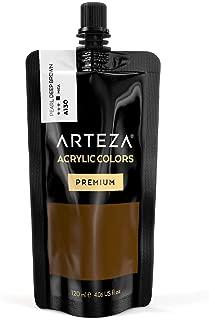 ARTEZA Acrylic Paint Pearl Deep Brown Color (120 ml Pouch, Tube)