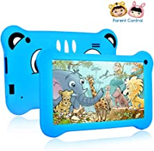 Tablet for Kids, 7 inch Kids Tablet Android 9.0 2GB +16 GB Learning Tablet with IPS Eye Protection Screen Dual Cameras WiFi GMS Certified Kids-Proof Children Tablets Parent Control (Blue)