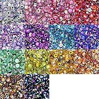 オーロラ AB アクリル ラウンド ラインストーン 14色カラーセット デコ電 ネイル 5mm