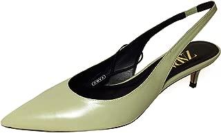 Zara Women Leather mid Heel Slingback Shoes 6226/001