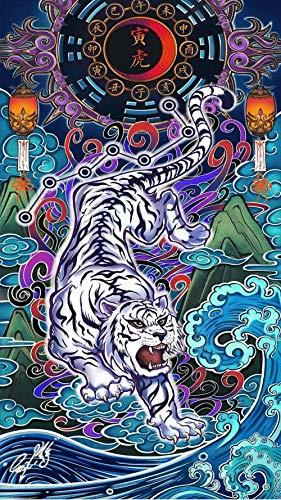 1000 Teile Puzzle Puzzle Jumbo Spiele Brain Challenge Zodiac White Tiger Erwachsene und Kinder Teile Jumbo Spiele