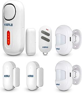 1.8 Pulgadas TFT WiFi gsm Kit Alarma de Seguridad Hogar Inal/ámbrico con Sensores de Puerta y App Control para Exterior Interior Casa Garaje Cobertizo Tienda Seguridad. Alarma de Seguridad Hogar EU