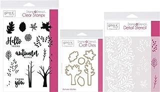 Gina K Stamp n Stencil - Autumn Wishes - Stamps, Dies, Stencil & Storage Pocket
