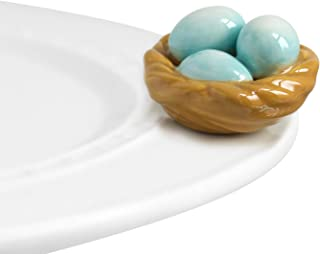 Nora Fleming Hand-Painted Mini: Robin's Egg Blue (Nest) A39