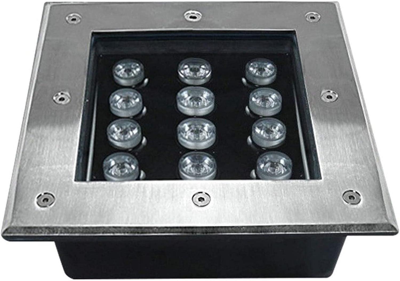 MWKLW Bargain 12W Super Bright Max 58% OFF LED Recessed Floor Sta IP67 Light Square