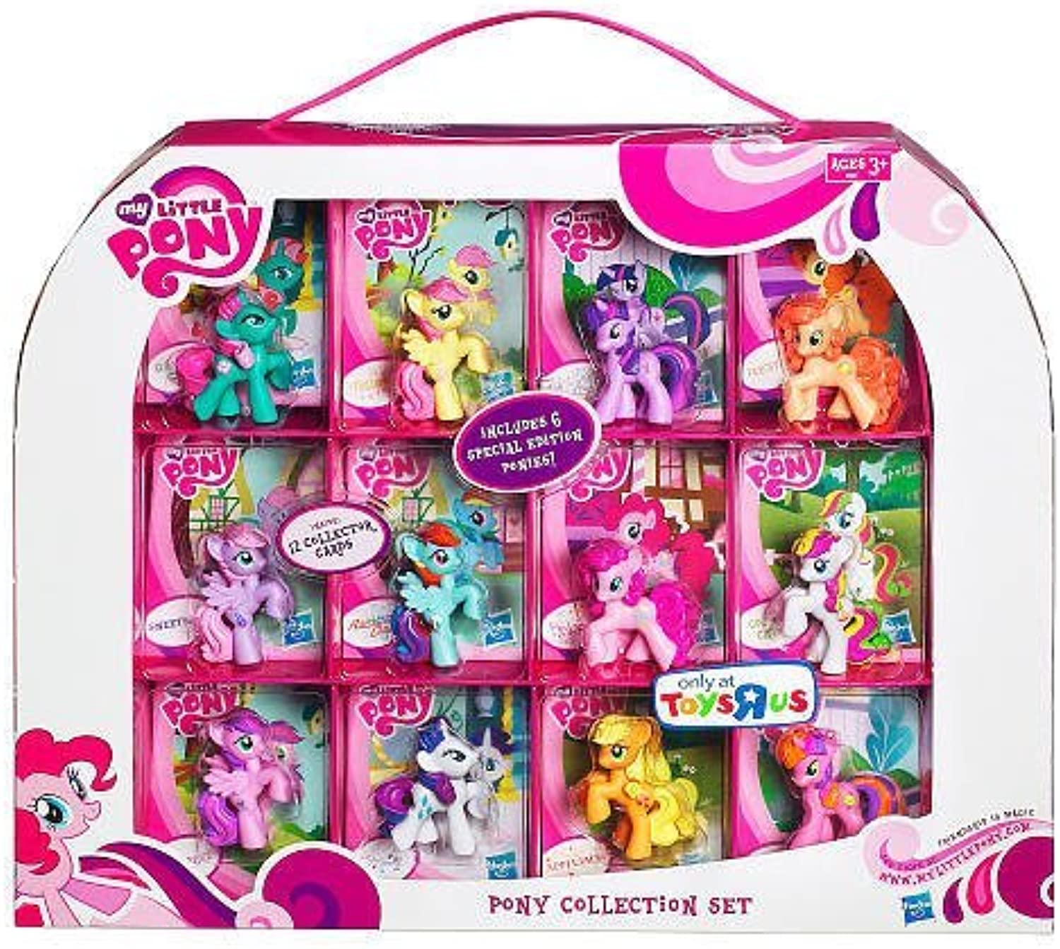 My Little Pony Exclusive 12Pack Pony Collection Set Includes 6 Special Edition Ponies