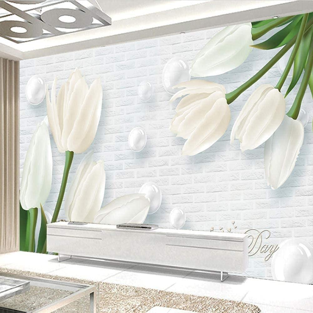 Nonwoven Wallpaper Max 49% OFF with Tulip Patterns Jade Tapestry Gorgeous and Custom