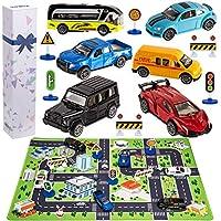 Kilpkonn 6 City Diecast Car Toys Playset