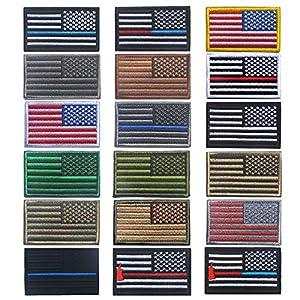OYSTERBOY 18pcs USA US American Flag Patch Worn Backward Army Uniforms(Right Shoulder)
