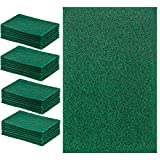 DecorRack 28 Extra Large Cleaning Scouring Pads for Kitchen, Dishes, Bathroom, Household, Large Heavy Duty Non Scratch Scour Pad, Scrubber Sponge Dish Pads, Green (Pack of 28)