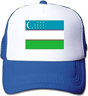 Flag Of Uzbekistan Adult Grid Baseball Caps Adjustable sunshade Hat Mesh Trucker Hat Snapback Cap