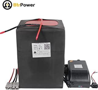 BtrPower Lithium LiFeO4 Battery 12V 150Ah Deep Cycle Battery with 10A Charger,Built-in BMS for RV/Camper, Marine, Overland/Van, and Off Grid Applications