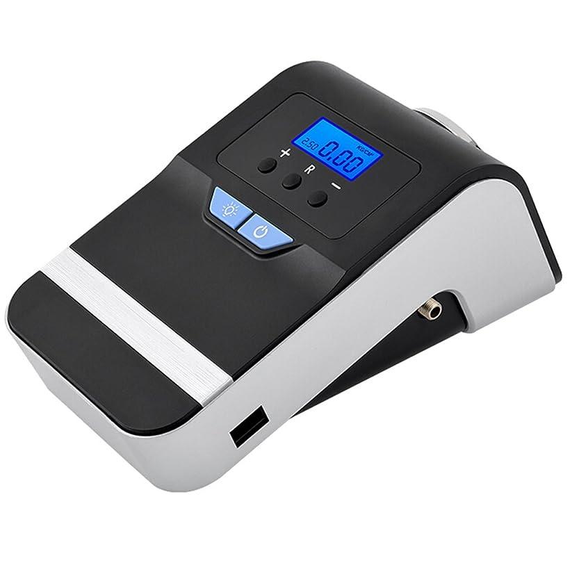 品揃え引き渡すレザースマートデジタル車のタイヤインフレータ - 12Vポータブルエアコンプレッサー80秒SOS緊急時の光による自動シャットダウン
