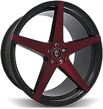 Curva Concept Wheels C55: 20x10, 5x114.3, 73.1, 38, (Black/MF/Red)