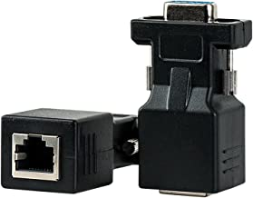 VGA Extender, MACTIS VGA Female to RJ45 Adapter Extender over Cat5 Cat6 Ethnernet Cable (2 Pack, 65ft/20m)