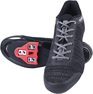Tommaso Strada Aria Knit Lace Up Dual Compatible Cycling Shoe and Bundle, SPD, Delta, Black