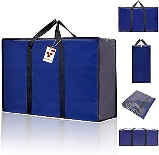 Berri BASICS, Bolsas de viaje Oxford, almacenamiento de lavandería, bolsa de compras con cremallera doble reutilizable, Grande, azul