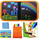 PHYLES Enfant Doodle Planches, Enfant Dessin Livre, Bloc de Dessin effaçable pour Enfants, Livre Dessin Magique Réutilisable, Jouets Dessin Éducatifs pour Enfants - Orange