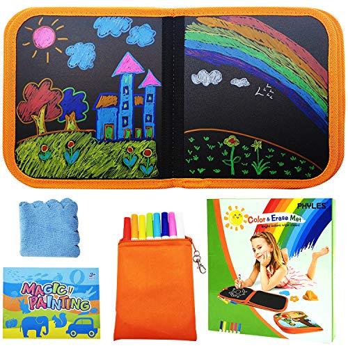 PHYLES Doodle pad, Abwischbares Malbuch für Kinder, Graffiti-Zeichenbrett für Kinder, Tragbares Kinder Malbuch, Wischbar Malbuch, Wiederverwenderbar