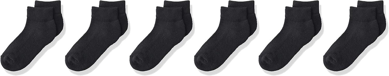 Fruit Of The Loom Boys Breathable Cotton Quarter Socks 6 Pair