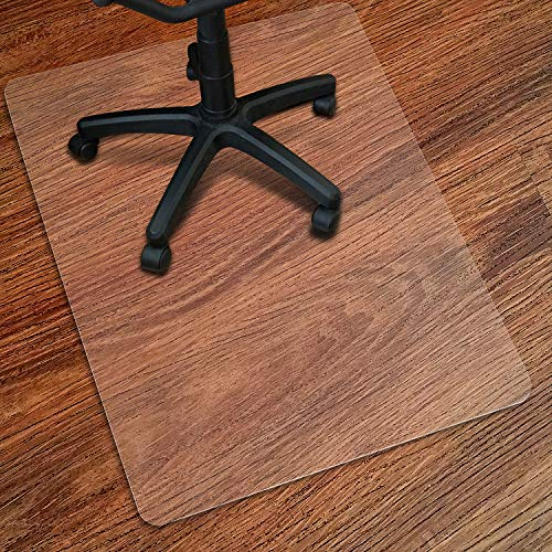"Kuyal Clear Chair mat for Hard Floors 36 x 48 inches Transparent Floor Mats Wood/Tile Protection Mat for Office & Home (36"" X 48"" Rectangle for Hard Floor)"
