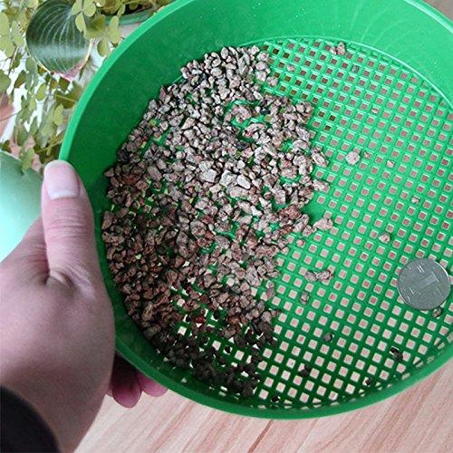 Caidud Gartensieb, Filter, Boden und Stein, Mini, Garten, Balkon, Kunststoff, robust