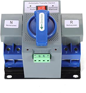 TUQI 110V 2P 63A Dual Power Automatic Transfer Switch Dual Power Generator Changeover Switch 50HZ/60HZ