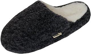 SamWo, Chaussons de bien-être en laine de mouton - Unisexe - Semelle antidérapante douce - Sol 100 % laine mérinos - Taill...