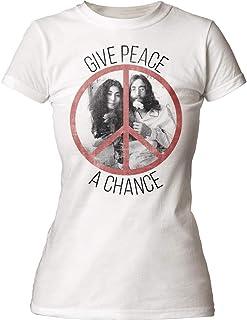 John Lennon - - Les Femmes donnent la Paix Un T-Shirt de Chance, XX-Large, Vintage White