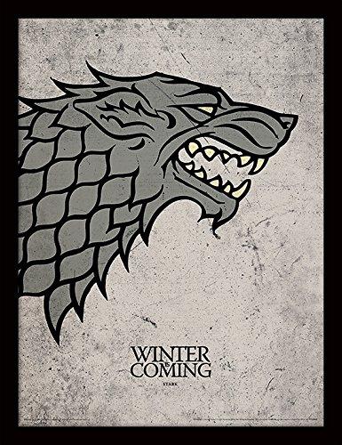 Game of Thrones 30x 40cm Stampa incorniciata Stark