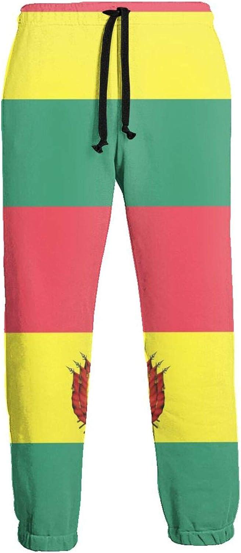 Cey99P-A Max 74% OFF Mens Patriotic Las Vegas Mall Symbols of Bolivia Jogger Ca Sweatpants