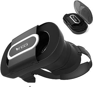 Maxku VRゴーグル 2018最新型VR BOX 折り畳みデサイン 96°広角 3DVRメガネ 超軽量 散熱加工 3Dグラス 超3D映像効果 ヘッドマウント用スマホゴーグル Moto G6 Plus / Moto G6 / Moto E5 ...