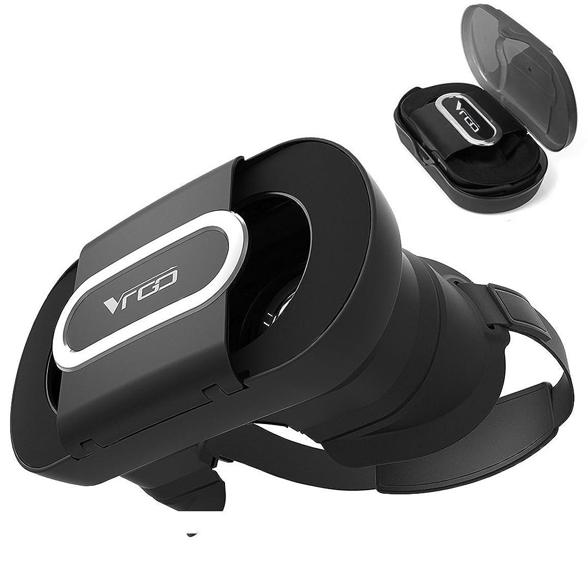 軽減する定義地上でMaxku VRゴーグル 2018最新型VR BOX 折り畳みデサイン 96°広角 3DVRメガネ 超軽量 散熱加工 3Dグラス 超3D映像効果 ヘッドマウント用スマホゴーグル ASUS ZenFone4 MAX ZC520KL / Huawei Mate 10 Pro / Mate 10 lite / Mate 10 / / honor 9 / OnePlus 5T / Xperia XZ1 SOV36 SO-01K / isai V30+ LGV35 / ドコモ V30+ L-01K / JOJO L-02K / Moto G5S Plus / Ulefone Geminiなどのスマホに適用 (ブラック)