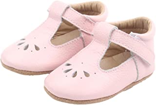 XO Kids Baby Mary Janes: Genuine Leather Baby T-Bar Shoes for Toddlers