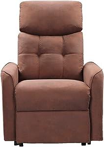 Novohogar Sillón reclinable Modelo Moscú con Muelle ensacado, Respaldo reclinable manualmente y reposapiés Extensible. Chocolate (Chocolate)