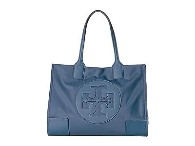 Tory Burch Ella Mini Tote (Blue Yonder) Handbags