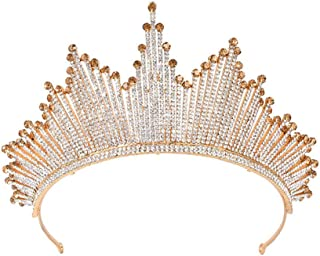 YNYA Tiare Corona Nuziale Domineering Regina Copricapo Full Diamond Party Compleanno Cerimonia di Nozze Abito Accessori pe...