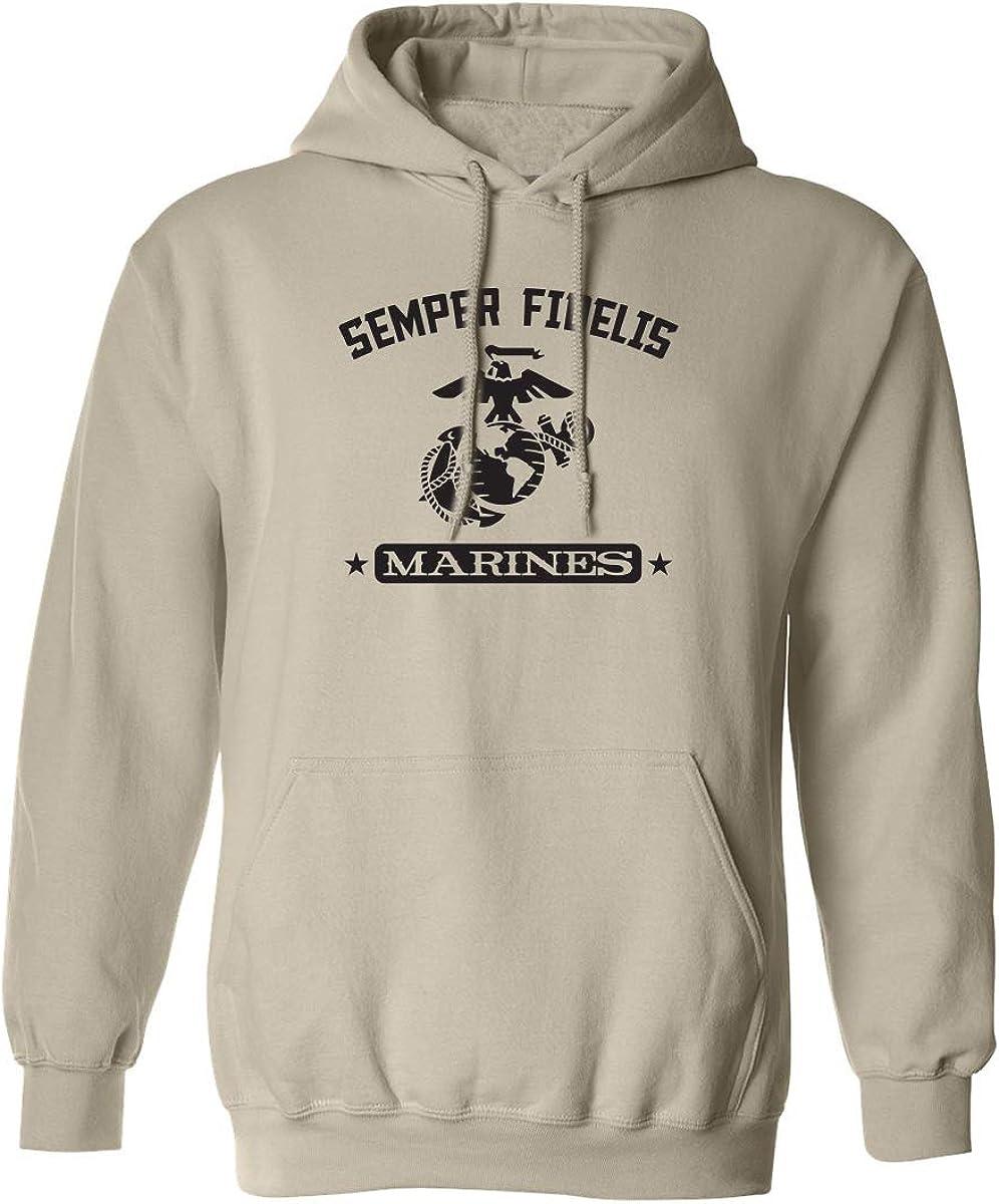 Semper Fidelis Marines Adult Hooded Sweatshirt