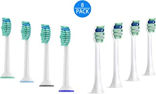 Sonicare Brush Heads for Philips Sonicare DiamondClean Electric Toothbrush HX6063/64, Fit Gum Health, FlexCare, HealthyWhite, Essence+ and EasyClean Phillips, 8 Pack (Sonicare combine)