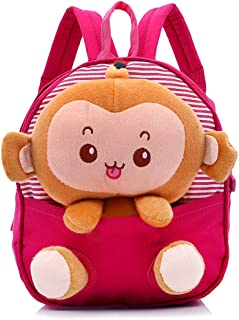 Perschool Backpack with Removable Monkey Little Backpack Snack Travel Bag Mini Bags