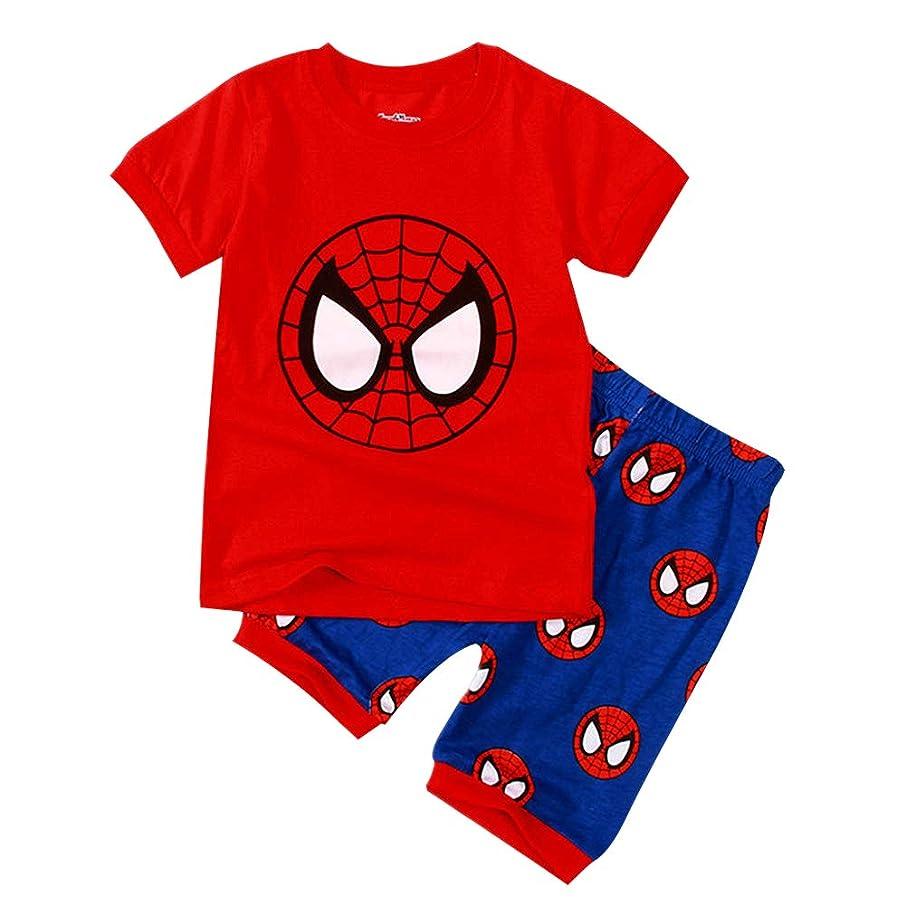 KINOMOTO Kid Toddler Boys Cartoon Animal Monster Truck Two Piece Cotton Clothing Sets Short Sleeve Tee and Shorts