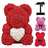 Kipida - Oso de rosa eterno, rosa de oso de flores, oso de rosa eterna...