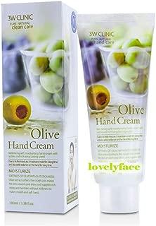 3W Clinic Hand Cream, Olive, 3.38 Ounce