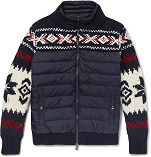 09124d9f2dbc Polo Ralph Lauren Men s Fair Isle Wool-Blend and Quilted Shell Down Jacket  with Detachable