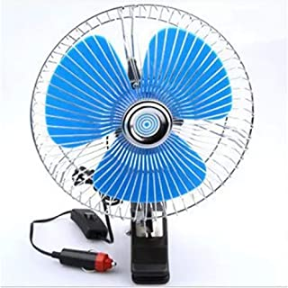 Summer Electric Car Fan Portable Vehicle Auto Fan Oscillating Cooling Fan Low Noise with Cigarette Lighter Car Charger,Australia