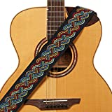 Amumu Celtic Knot Guitar Strap Multi-Color Polyester for Acoustic, Electric and Bass Guitars with Strap Blocks & Headstock Strap Tie