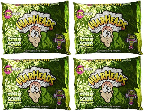 Warheads Extreme Sour Hard Candy 175 Pieces Assorted Flavors - 25 oz bag